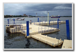 picture of docks with adjusted free board